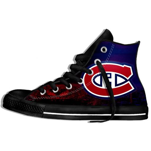 2019 New Creative Design For Ice Hocky High Top Custom Shoes Montreal Canadien shoes Flat Casual 4