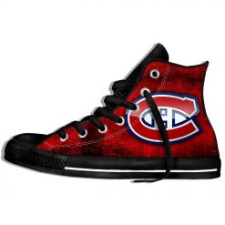2019 New Creative Design For Ice Hocky High Top Custom Shoes Montreal Canadien shoes Flat Casual 5
