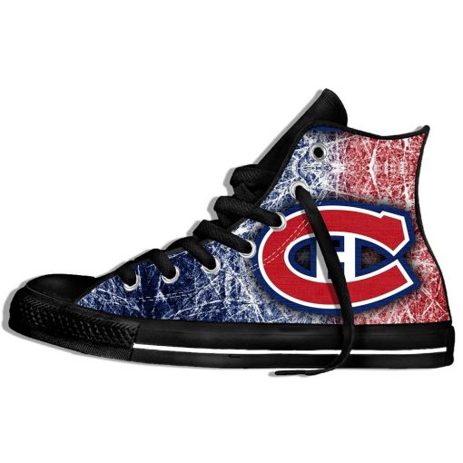 2019 New Creative Design For Ice Hocky High Top Custom Shoes Montreal Canadien shoes Flat Casual 7