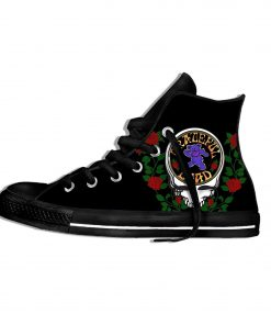 2019 New Fashion Casual Breathable Shoes Lace Up Grateful Dead Roses Walking Shoes Lightweight High Top 2