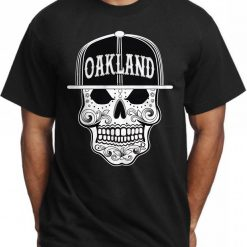 2019 New Fashion Man T Shirt Oakland Sugar Skull T Shirt Mexican Art Aztec Dia De