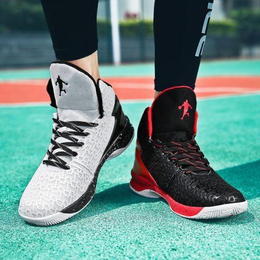 2019 New Fashion Men High top Jordan Basketball Shoes Men s Cushion Light Basketball Sneakers Anti 5