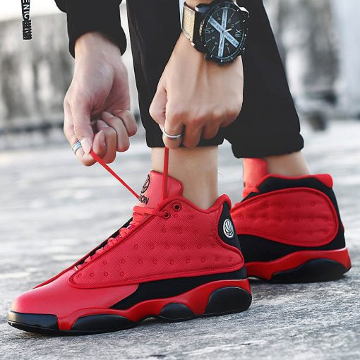 2019 New Style Breathable Basketball Shoes Mens Boys High Top Shockproof Sneakers Non slip Jordan Basket 2