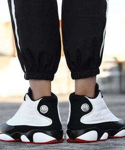 2019 New Style Breathable Basketball Shoes Mens Boys High Top Shockproof Sneakers Non slip Jordan Basket 5