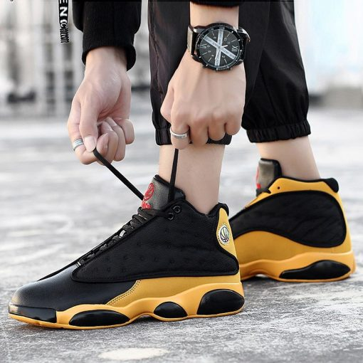 2019 New Style Breathable Basketball Shoes Mens Boys High Top Shockproof Sneakers Non slip Jordan Basket