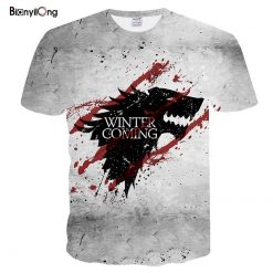 2019 Newest T shirt Game of Thrones t shirt Night King Dragon Men Tshirt 3d Print