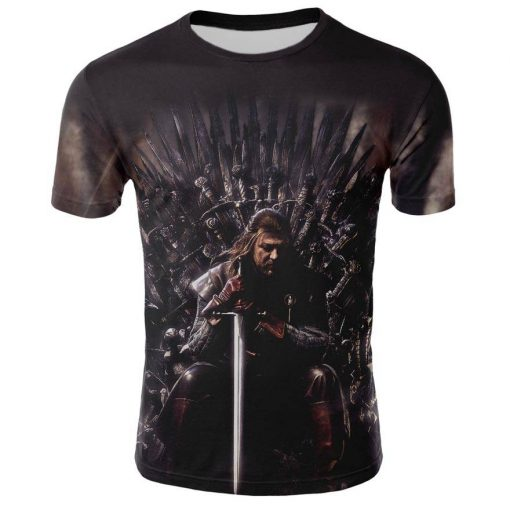 2019 Spring Autumn Game of Thrones figure cosplay costume tshirt tee shirts Loose Fit Casual Men 1