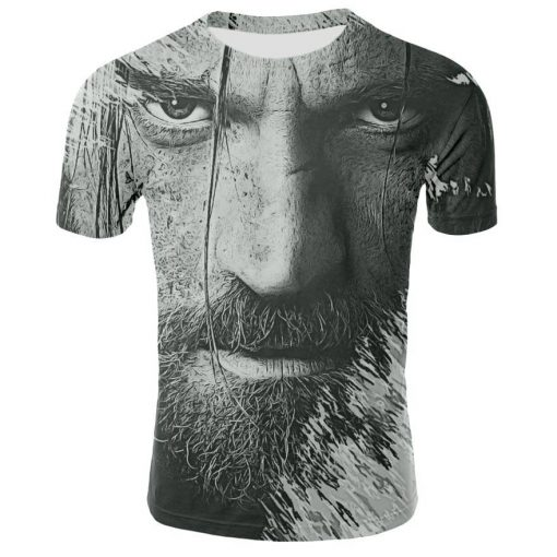 2019 Spring Autumn Game of Thrones figure cosplay costume tshirt tee shirts Loose Fit Casual Men 2