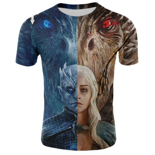 2019 Spring Autumn Game of Thrones figure cosplay costume tshirt tee shirts Loose Fit Casual Men 3