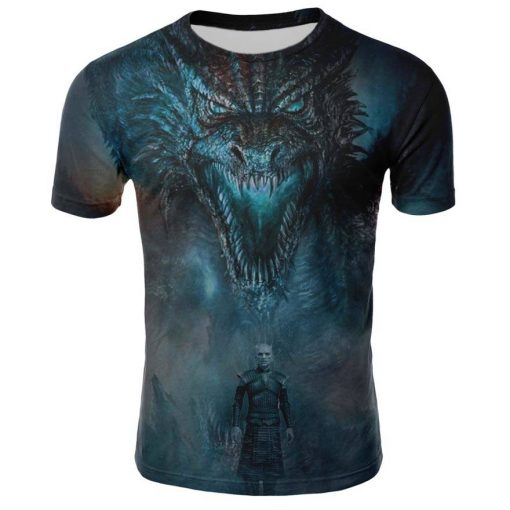 2019 Spring Autumn Game of Thrones figure cosplay costume tshirt tee shirts Loose Fit Casual Men 4