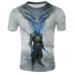 2019 Spring Autumn Game of Thrones figure cosplay costume tshirt tee shirts Loose Fit Casual Men 5