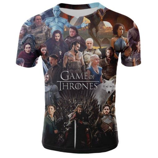 2019 Spring Autumn Game of Thrones figure cosplay costume tshirt tee shirts Loose Fit Casual Men