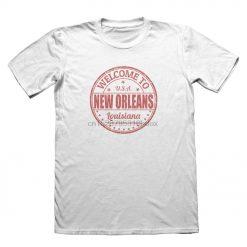 2019 Summer O Neck Tee Shirt New Orleans Louisiana USA Design T Shirt Funny Mens Gift