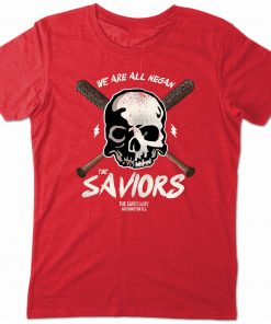2019 T Shirts We Are All Negan The Saviors T Shirt Twd Walking Zombie Dead Lucille 2