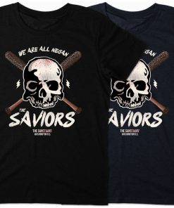 2019 T Shirts We Are All Negan The Saviors T Shirt Twd Walking Zombie Dead Lucille