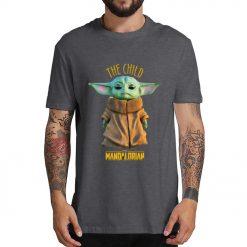 2019 Unisex Hot Sale Short Shirt Lovely Yoda Baby T shirt Mandalorian Star Wars Fan Gift 1