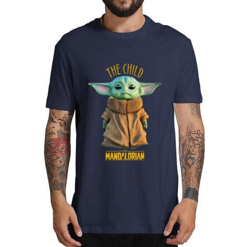 2019 Unisex Hot Sale Short Shirt Lovely Yoda Baby T shirt Mandalorian Star Wars Fan Gift 2
