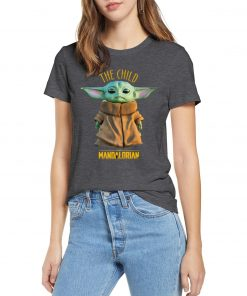 2019 Unisex Hot Sale Short Shirt Lovely Yoda Baby T shirt Mandalorian Star Wars Fan Gift