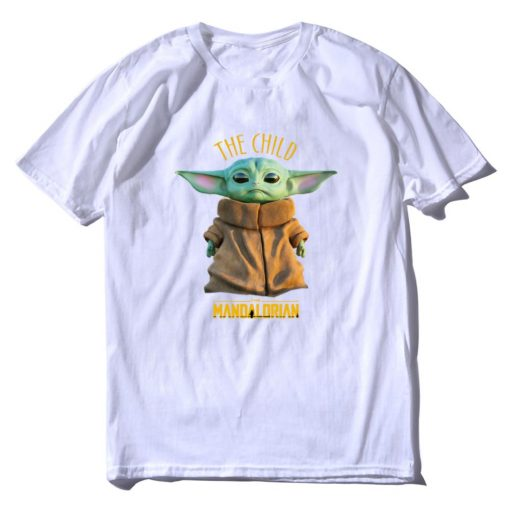 2019 Unisex Hot Sale Short Shirt Lovely Yoda Baby T shirt Mandalorian Star Wars Fan Gift 4