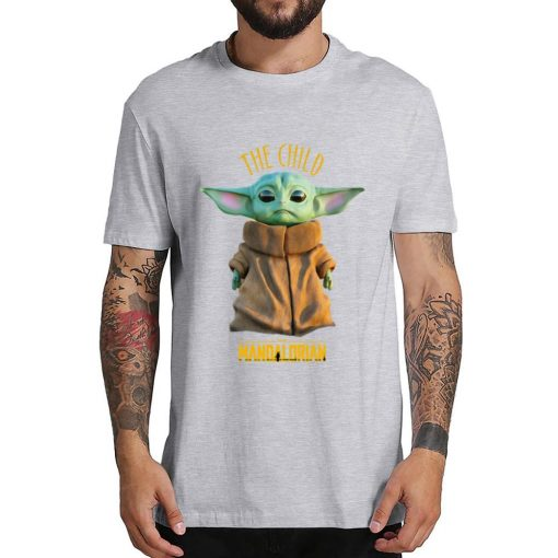 2019 Unisex Hot Sale Short Shirt Lovely Yoda Baby T shirt Mandalorian Star Wars Fan Gift 5