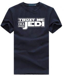 2019 summer funny streetwear HipHop black tshirt homme STAR WAR Trust Me I m a Jedi 1