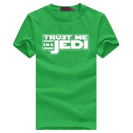 2019 summer funny streetwear HipHop black tshirt homme STAR WAR Trust Me I m a Jedi 2