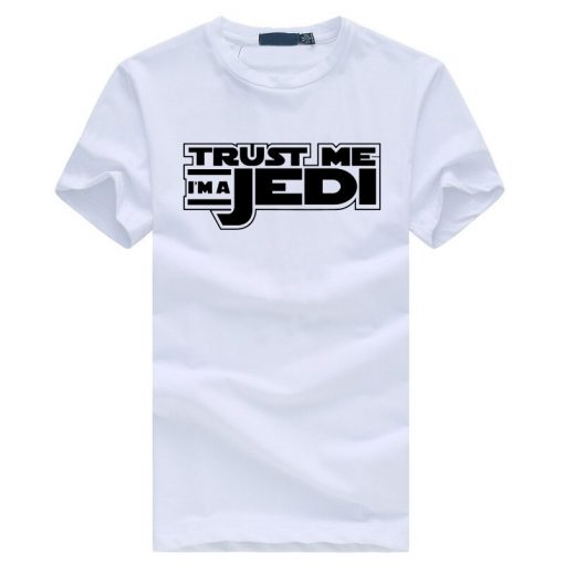 2019 summer funny streetwear HipHop black tshirt homme STAR WAR Trust Me I m a Jedi 4