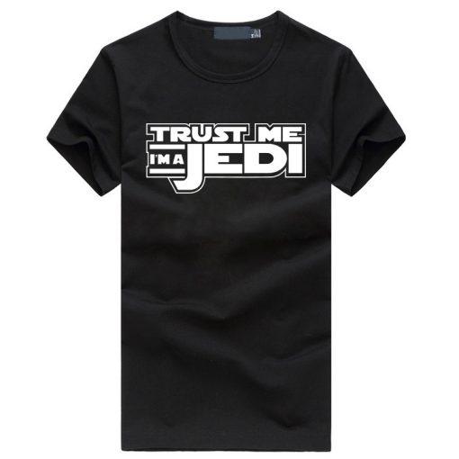 2019 summer funny streetwear HipHop black tshirt homme STAR WAR Trust Me I m a Jedi