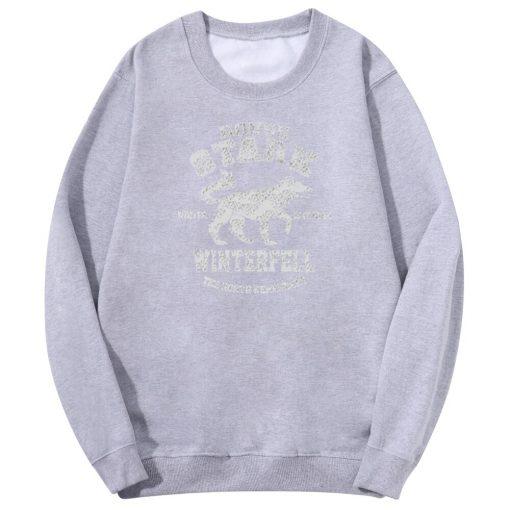 2020 Autumn Hip Hop Fashion Sweatshirt Wolf Cool Casual Fleece Warm Mens Streetwear Game Of Thrones 2