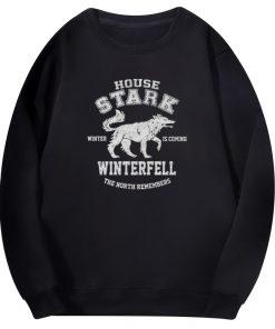 2020 Autumn Hip Hop Fashion Sweatshirt Wolf Cool Casual Fleece Warm Mens Streetwear Game Of Thrones