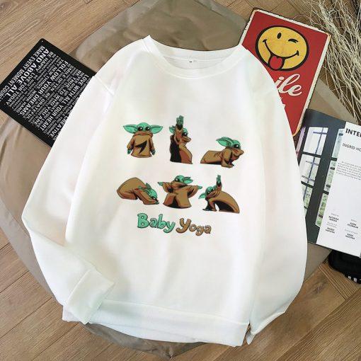 2020 Harajuku Baby Yoda Shirt Aesthetic Clothes Women Hoodies Sweatshirt Pokemon Women Kawaii Clothes Hoody Pullover 2