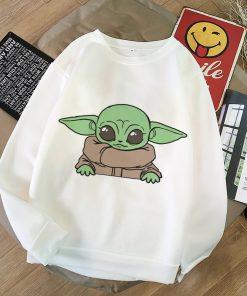 2020 Harajuku Baby Yoda Shirt Aesthetic Clothes Women Hoodies Sweatshirt Pokemon Women Kawaii Clothes Hoody Pullover