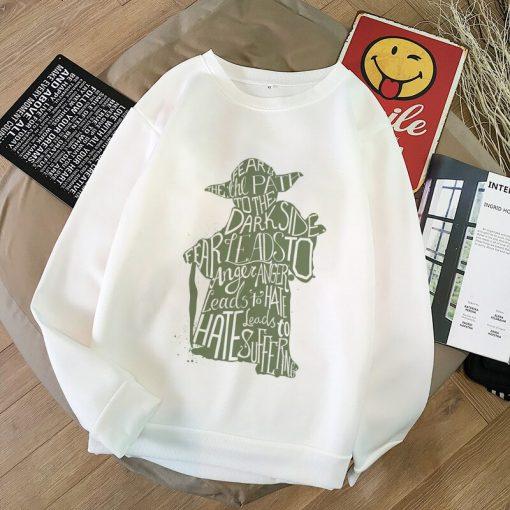 2020 Harajuku Baby Yoda Shirt Aesthetic Clothes Women Hoodies Sweatshirt Pokemon Women Kawaii Clothes Hoody Pullover 3
