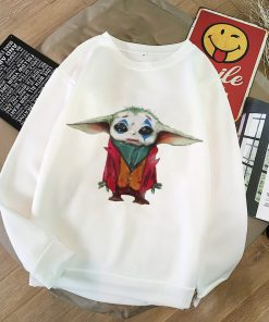2020 Harajuku Baby Yoda Shirt Aesthetic Clothes Women Hoodies Sweatshirt Pokemon Women Kawaii Clothes Hoody Pullover 4