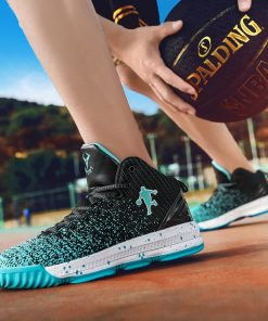 2020 New Men Basketball Shoes Men High Top Athletic Shoes Sneakers Women Breathable Lightweight Training Boots 1