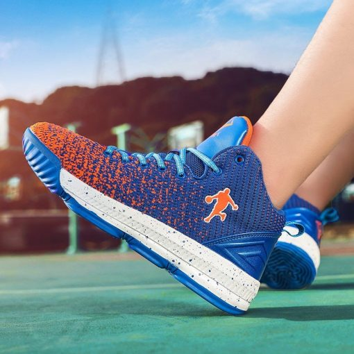 2020 New Men Basketball Shoes Men High Top Athletic Shoes Sneakers Women Breathable Lightweight Training Boots 4