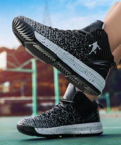 2020 New Men Basketball Shoes Men High Top Athletic Shoes Sneakers Women Breathable Lightweight Training Boots 5