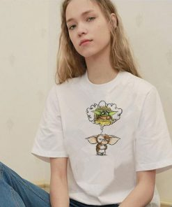 2020 New Star Wars Baby Yoda Cute T shirt Women Yoda Tshirts Female Funny Mandalorian Tee
