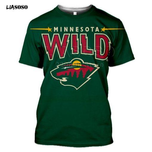 2020 fashion 3D MINNESOTA print Harajuku T shirt trendy Baseball Hockey Team LOGO Sportswear WILD Short