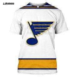 2020 fashion the 3D BLUES print Harajuku T shirt trendy Baseball Hockey Team LOGO Sportswear ST 1