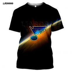 2020 fashion the 3D BLUES print Harajuku T shirt trendy Baseball Hockey Team LOGO Sportswear ST