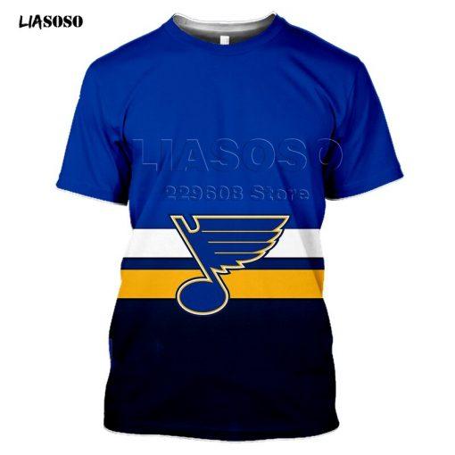 2020 fashion the 3D BLUES print Harajuku T shirt trendy Baseball Hockey Team LOGO Sportswear ST 4