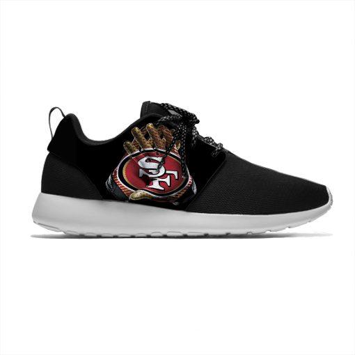 49ers Breathable Leisure Sport Sneakers San Francisco Football Team Fans Lightweight Casual Men Women Running Mesh 2