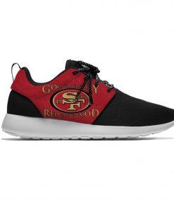 49ers Breathable Leisure Sport Sneakers San Francisco Football Team Fans Lightweight Casual Men Women Running Mesh 3