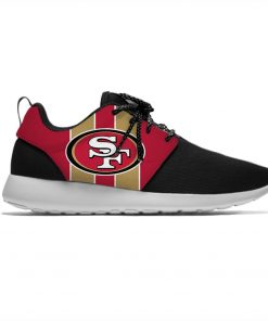 49ers Leisure Casual Sneakers San Francisco Football Fans Mens And Womens Breathable Lightweight Mesh Sport Running