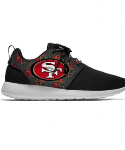 49ers Leisure Casual Sneakers San Francisco Football Fans Mens And Womens Breathable Lightweight Mesh Sport Running 3