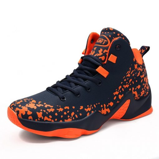 AFFINEST Basketball Shoes For Men Sneakers Jumping Shoes High Top Lace Up Ankle Air Cushion Sport 1