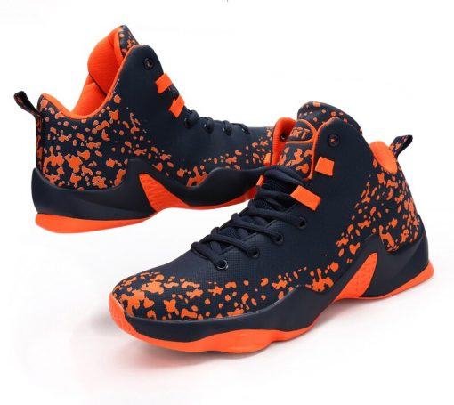 AFFINEST Basketball Shoes For Men Sneakers Jumping Shoes High Top Lace Up Ankle Air Cushion Sport 4