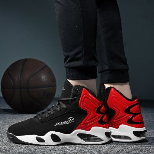 AFFINEST Basketball Shoes For Men With Fur Keep Warm Sneakers Non slip Jumping Shoes High Top 3