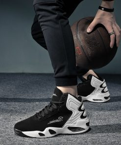 AFFINEST Basketball Shoes For Men With Fur Keep Warm Sneakers Non slip Jumping Shoes High Top 4